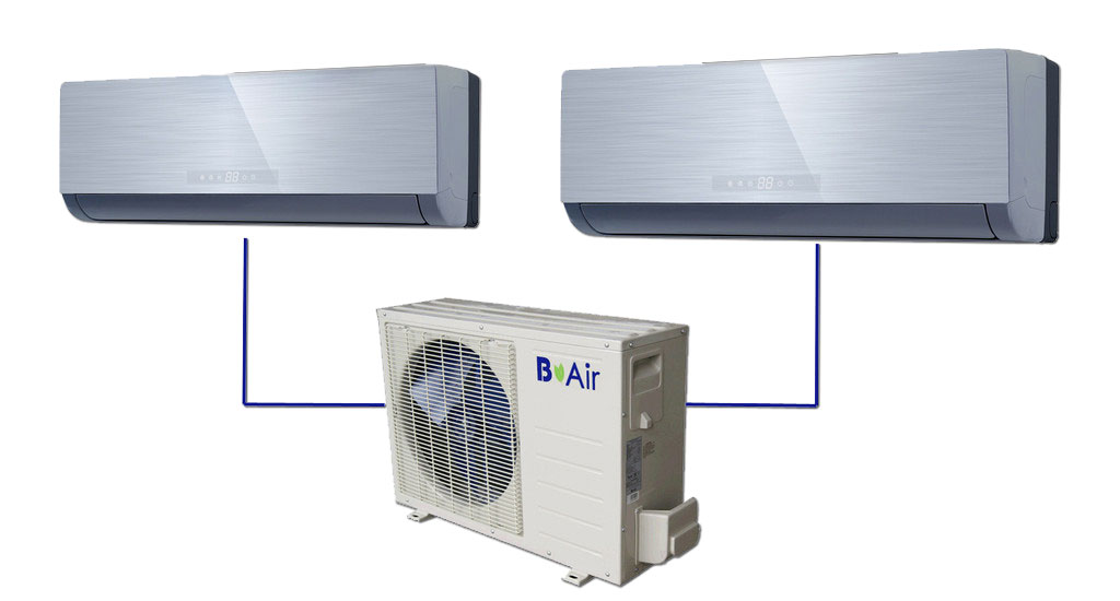 B Air 18,000 Ductless AC Multi Split